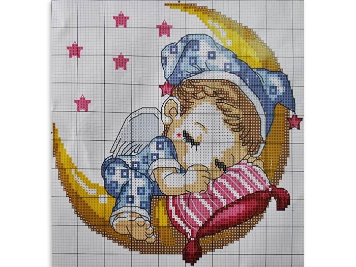 Схемы вышивания крестиком на детских подушек